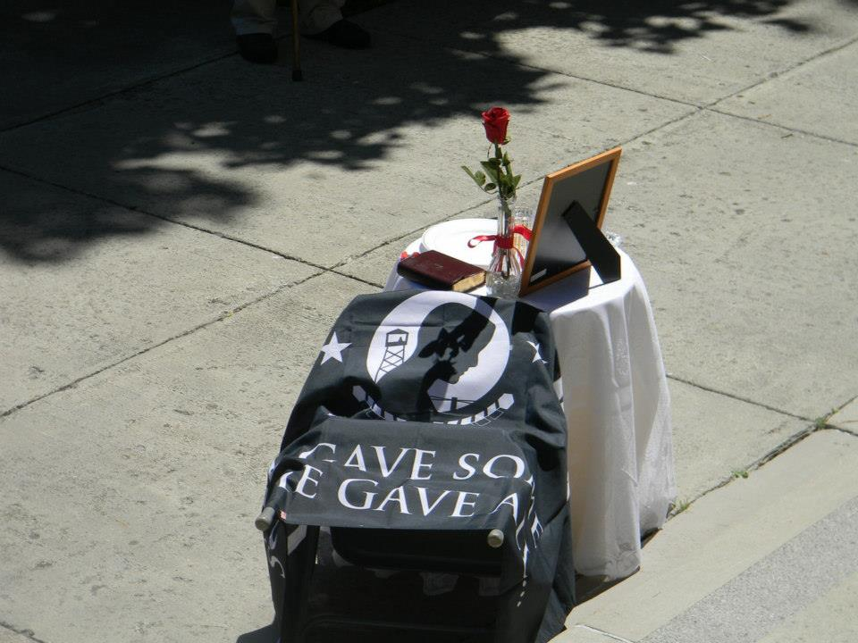 Image of POW MIA table and chair